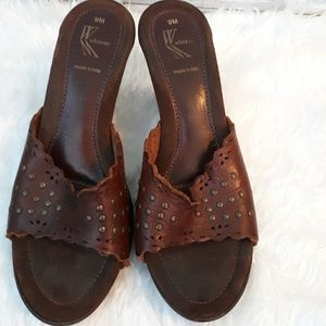 White Mountain Italian leather heels shoes sz 9